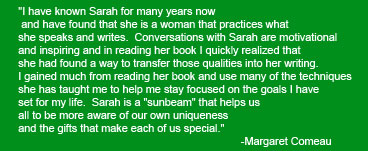 Sarah Klein-Tower's quote about her book